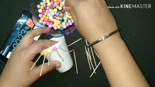 One minute game   kitty party games   toothpick sticks- thermocol ballls- thermocol cups game   fun