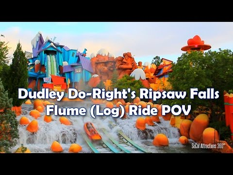 [HD] Dudley Do-Right's Ripsaw Falls POV - Log Ride - Islands of Adventure