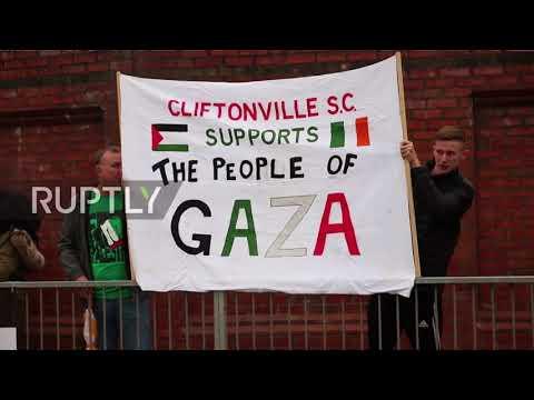 UK: Pro-Palestine Rally Slams N.Ireland Football Friendly With Israel