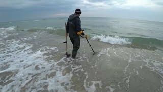 Пляжный коп на Черном море 1ч. Лазурное 2019