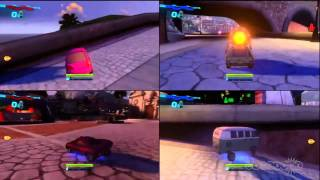 Cars 2: The Video Game - Disruptor Challenge Gameplay (Multi)