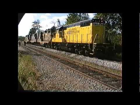 St.Lawrence & Atlantic  #393 & #394 with CV Geeps 08/31/1989