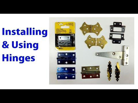 Installing and Using Hinges: Woodworking Beginners #19