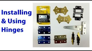 Installing And Using Hinges Beginners #19 -  Woodworkweb Video