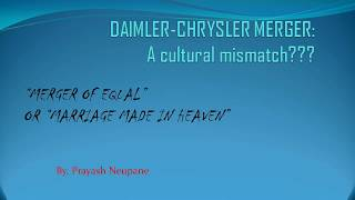 daimler chrysler merger failure