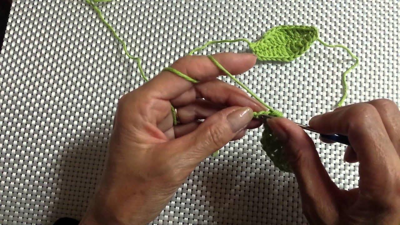 Blütenblatt Häkeln Blatt Häkeln Häkelblatt Youtube