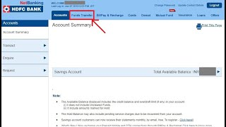 How to Transfer Money HDFC to Other Bank Account Online