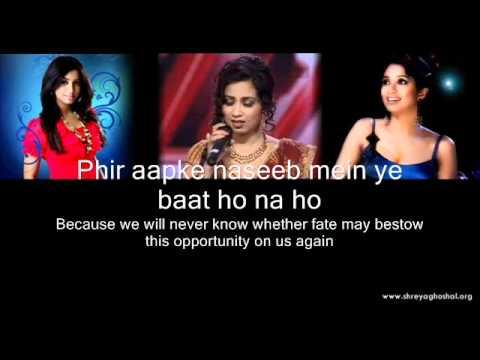 Shreya Ghoshal - Lag Ja Gale (lyrics)