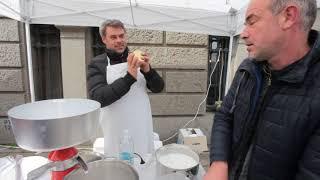 Демонстрация на правене на сметана и масло с мляко 2