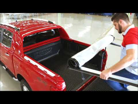 Ford Ranger Wildtrak Soft Roll Up Tonneau Cover Youtube