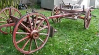 Old Western Wagons - Owensboro Running Gear - Freight Wagon Gear - Sheepwagon Gear