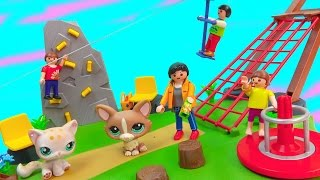 Playmobil Playset Zip Line Rock Climbing Wall Activity Playground Park Surprise Blind Bag Happy LPS