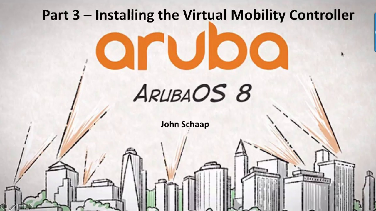 ArubaOS 8 2 Series Part 3 - Virtual Mobility Controller