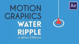 تموج الماء Motion Graphics   After Effects Tutorial