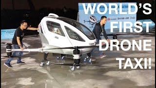 World's First Drone Taxi by EHang! (partnership with Huawei)