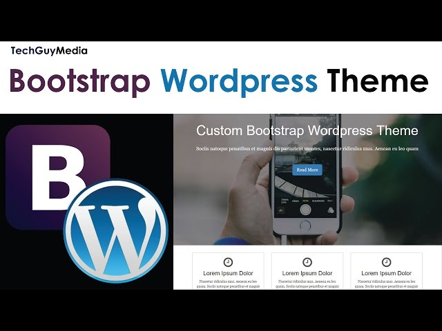 Wordpress Theme With Bootstrap [8] - Custom Front Page