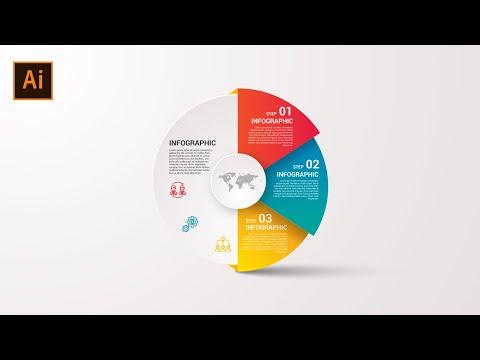 Create an infographic with minimalist designs in Illustrator CC