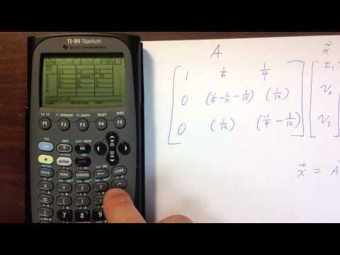 Putting Matrices Into Ti-89