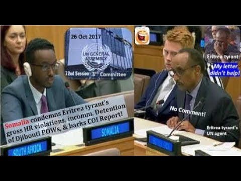 Somalia blasts Eritrea tyrant for gross HR abuses, Djibouti POWs, backs COI Report
