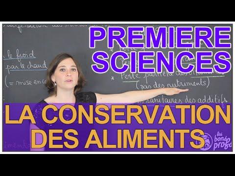 La conservation des aliments - Sciences 1ère ES/L - Les Bons Profs