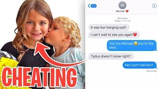we caught mini jake pauls girlfriend cheating on him