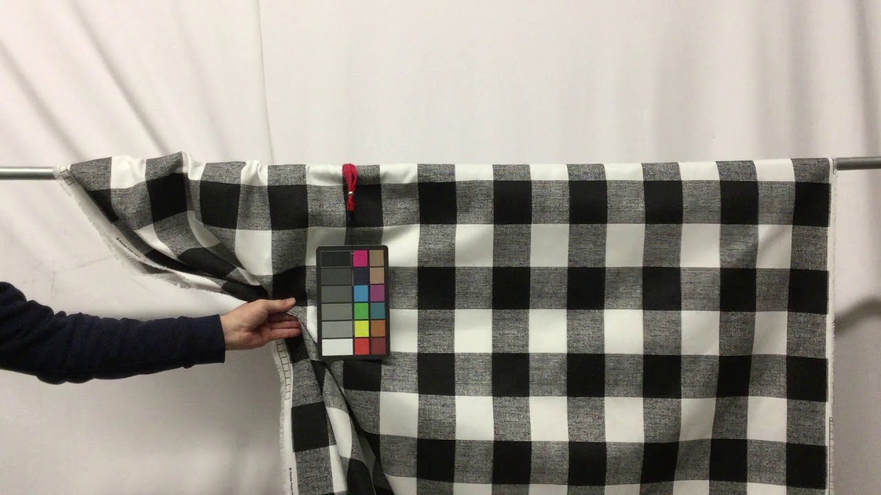 Black And White Plaid Drapery Upholstery Fabric 54 W Bty