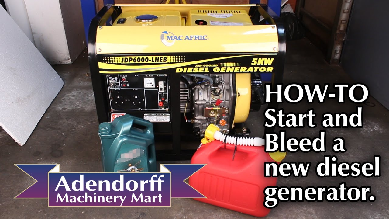 how to start a diesel generator