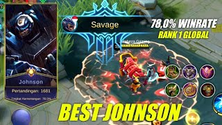 Gambar cover BEST BUILD JOHNSON PALING SAKIT   78,0% WINRATE   Mobile Legends