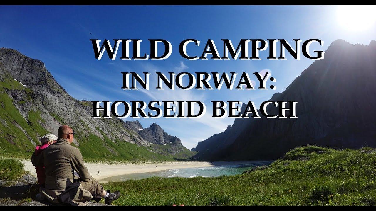 Wild camping in Norway - Horseid Beach hiking INFO - YouTube