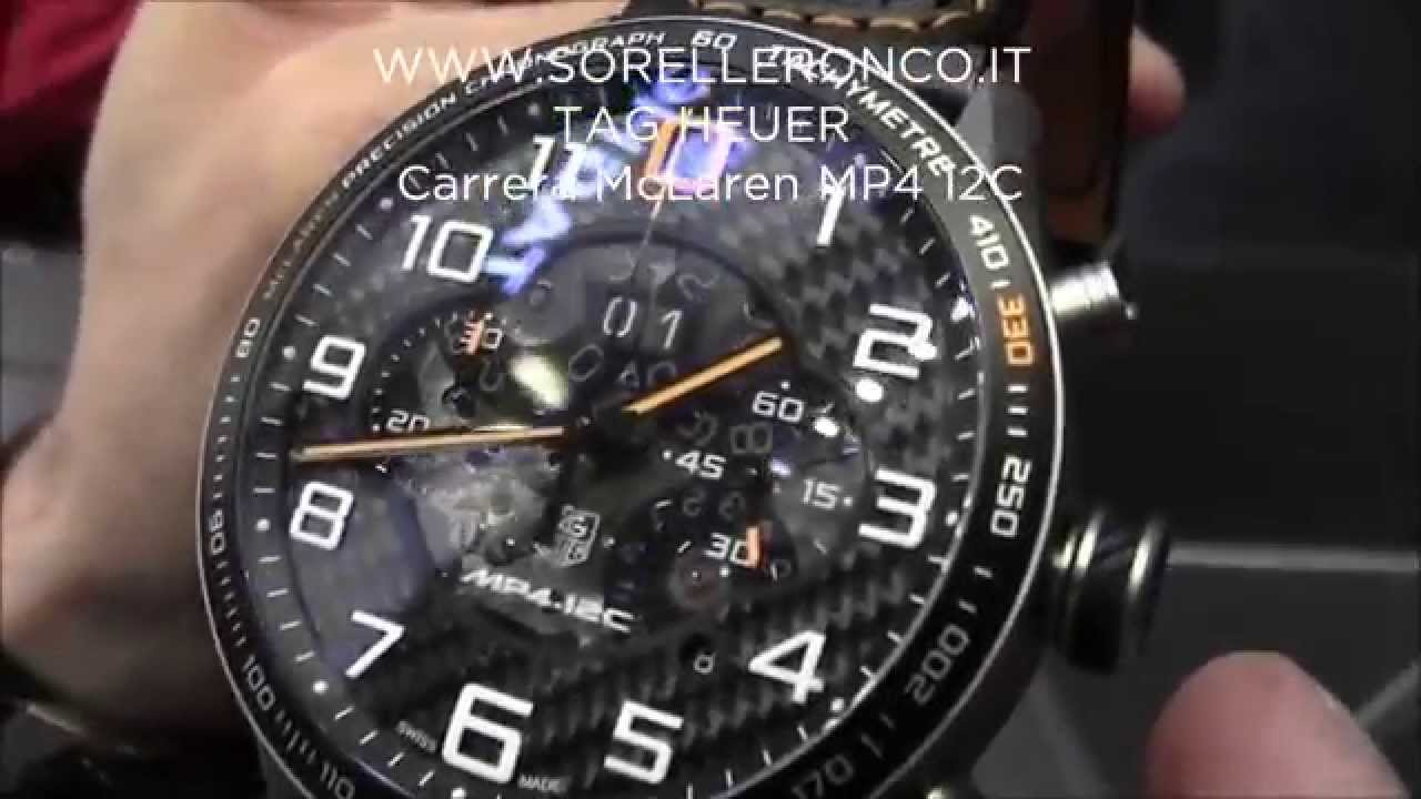 Tag Heuer McLaren MP4-12C Baselworld 2014 - YouTube