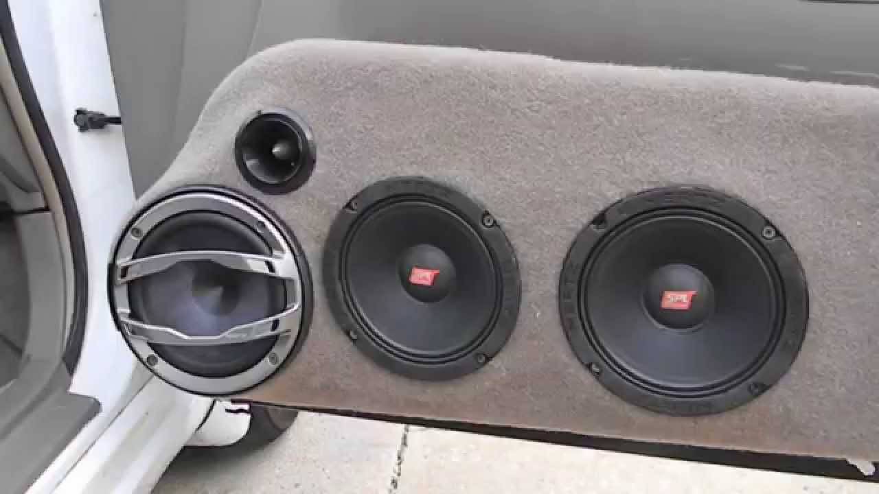 Hertz Car Audio Spl Mids And Highs Demo Of My Custom Door