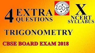 Important Questions for Class 10 maths trigonometry Extra questions