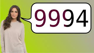 How to say '9994' in French?