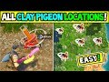 """ALL 6 CLAY PIGEON LOCATIONS """"Get A Score of 3 On Different Clay Pigeon Shooters"""" FORTNITE WEEK 8"""