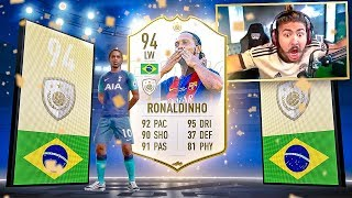 I PACKED PRIME RONALDINHO!! BEST ICON PACKS EVER!! FIFA 19