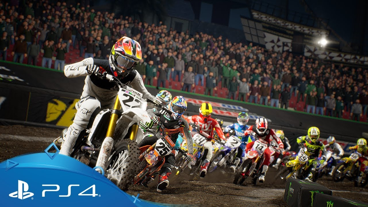 monster energy supercross 2 launch trailer ps4 youtube. Black Bedroom Furniture Sets. Home Design Ideas