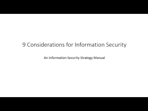 9 considerations for Information security