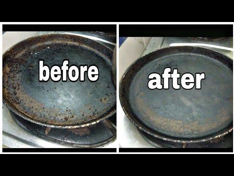 how to clean non-stick dosa pan(tawa) easily@home||#దోశెల పెనం clean చేసుకోవడం ఎలా||@home తెలుగు లో
