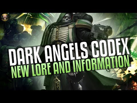 Dark Angel Codex - New Lore and Information