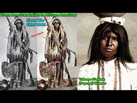 PART #1 - Real American Indian Photos Colorized For The First Time Ever ! Tribal Music Meditation
