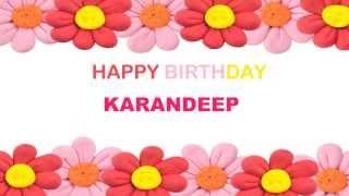 Karandeep   Birthday Postcards & Postales - Happy Birthday