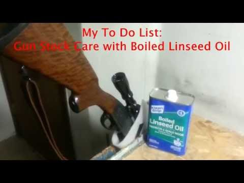My To Do List: Gun Stock Care with Boiled Linseed Oil