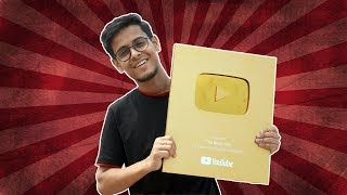 YouTube sent me Golden Play Button Your Bong Guy Thank You