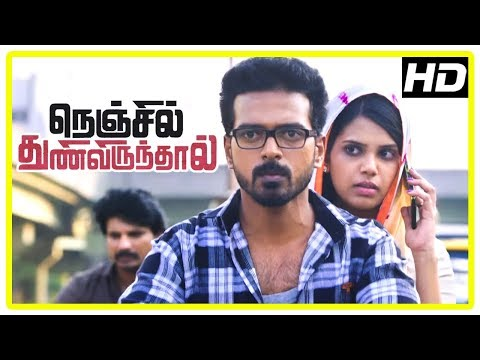 Nenjil Thunivirunthal Movie Scenes | Vikranth And Shathiga Are Attacked | Sundeep Recollects Past