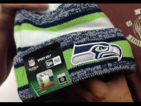 Seahawks  2014 STADIUM  Knit Beanie Hat by New Era - YouTube a251a55d030