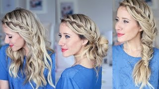 3-in-1 Cascading Waterfall | Build-able hairstyle | Cute Girls Hairstyles
