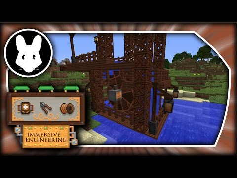 Immersive Engineering: Making a Max Power Water Wheel Look Nice! Minecraft 1.10.2/1.11.2