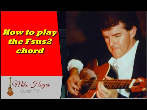 Beginner Guitar Chords Finger Placement - The Fsus2 Chord - YouTube