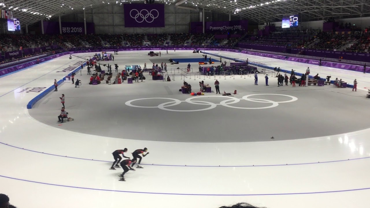 PyeongChang Olympic Speed Skating Team Pursuit USA VS CAN