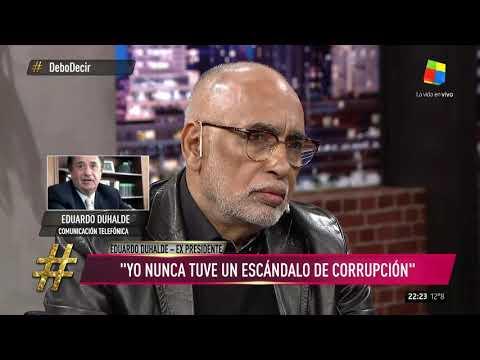 Eduardo Duhalde: Estoy enojado con el gobierno